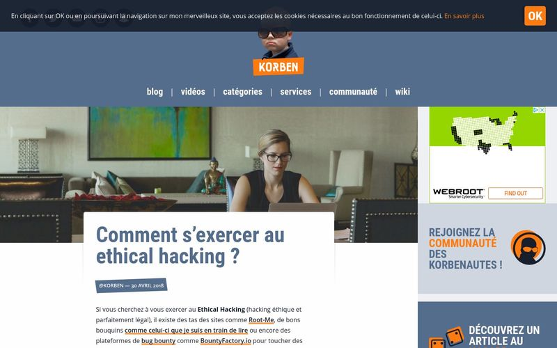 Korben : Comment s'exercer au ethical hacking ?